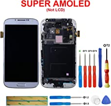 swark AMOLED Compatible with Samsung Galaxy S4 SCH- I545/SPH- L720/SCH- R970 Display Touch Screen Digitizer Assembly with Frame (Mobile Phone Repair Part Replacement)(White Mist)