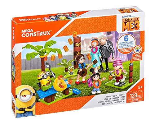 Mega Construx Mattel FHY38 Minions FHY38-Ich-einfach unverbesserlich 3 Luau Spielset, Kkk
