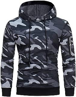 YOcheerful Mens Hoody Boy Windproof Jacket Coat Outwear Hoodie Sweatshirt Outerwear Hooded Jumper Sportswear