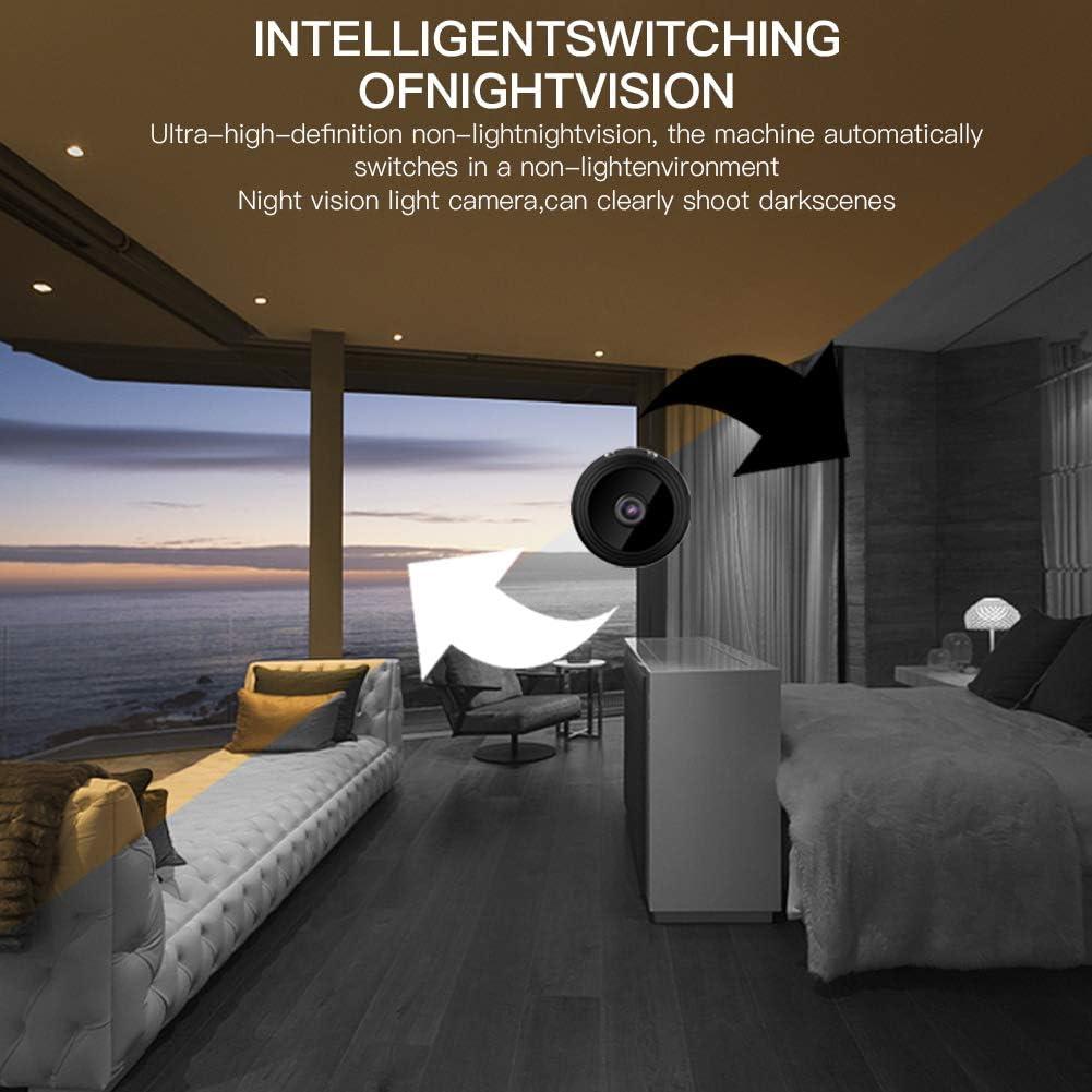 c/ámara de seguridad inal/ámbrica remota oculta WiFi detecci/ón de movimiento con base magn/ética visi/ón nocturna HD ZHSONG Mini c/ámara IP WIFI HD 1080P c/ámara de vigilancia de seguridad port/átil