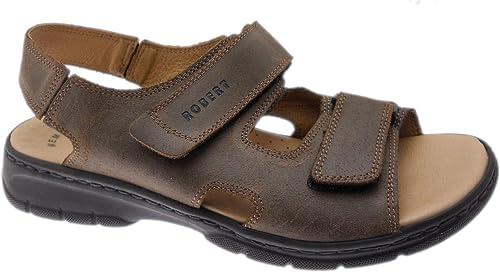 Robert 03310 Sandale pour Hommes Semelle Semelle intérieure à mémoire de Forme réglable  livraison éclair