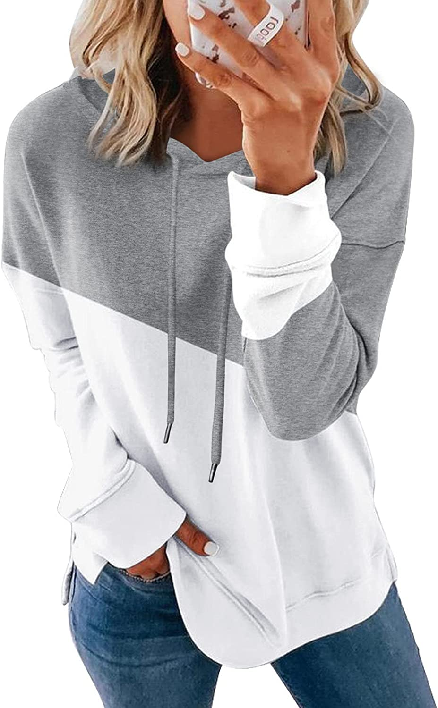 SHEWIN Women's Casual Hoodies Sweatshirts Long Sleeve Drawstring Pullover Tops
