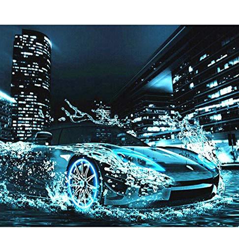 WACYDSD Puzzle 1000 Teile 3D Puzzle DIY Wassersport Auto Landschaft Kunst Bild Home Decoration
