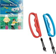 Hosoncovy Boxing Games Handle Grips with Anti-lost Strap for Nintendo Switch Joy-Con Fitness Boxing Game (Red and Blue)