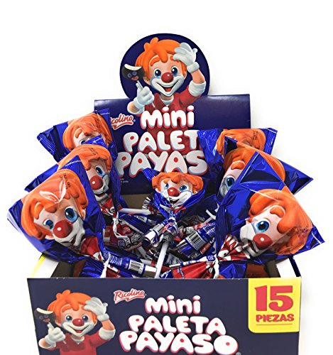 Mini Paleta Payaso 15 Pieces Marshmallow with Chocolate Flavored Coating and Gummies