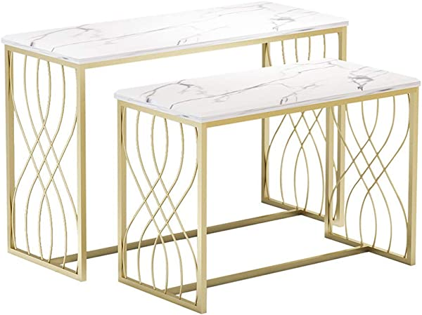 Modern Table Store Display Desk 32inches Large Home Desk Shop Table Show And Sell Goods Desk For Couture Solid Metal Frame Gold And White
