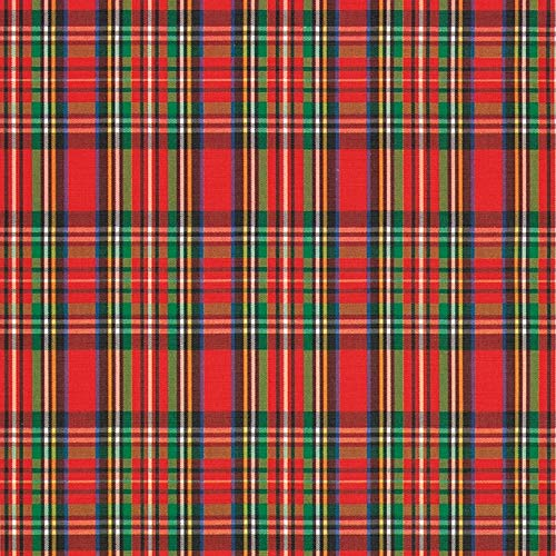 Tartan Plaid Christmas Red and Green Gift Wrap Roll 24' X 15'