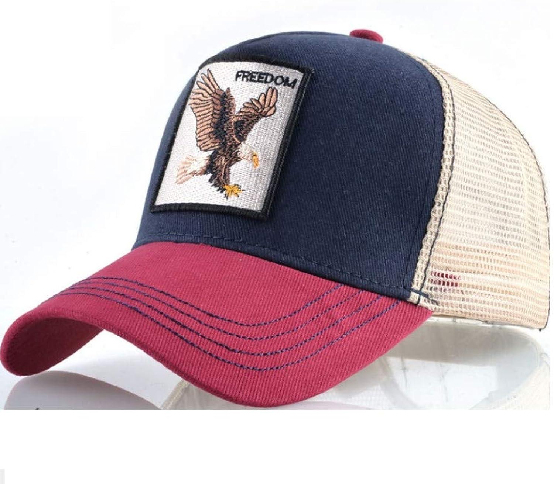Caomingxuan Baseball Cap Fashion Animal Eagle Embroidery Baseball Cap Men and Women Hip Hop Hat Summer Breathable Mesh Sun Unisex Street Dress Bone