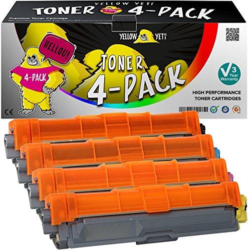 Yellow Yeti 4er Pack TN241 TN242 TN245 TN246 Premium Toner kompatibel für Brother HL-3140CW 3150CDW 3170CDW DCP-9015CDW 9020CDW MFC-9140CDN 9330CDW 9340CDW 9332CDW 9142CDN