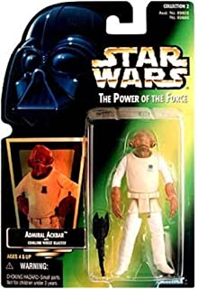 Star Wars Power of the Force Green Card 3 3/4 Admiral Ackbar Action Figure