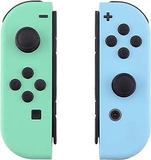 eXtremeRate Carcasa para Joy-Con Nintendo Switch Funda de Grip de reemplazo Tacto Suave Shell con Botón completo Case para...