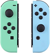 eXtremeRate Soft Touch Grip Mint Green & Heaven Blue Housing with Full Set Buttons, DIY Replacement Shell Case for Nintendo Switch Joy-Con – Console Shell NOT Included