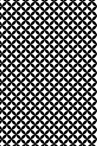 """Dot Grid Journal - Life Book: Black & White Abstract   6"""" x 9""""   110 Pages   Dotted Grid Notebook For Bullet Journaling, Lettering, Sketching, Art Notes"""