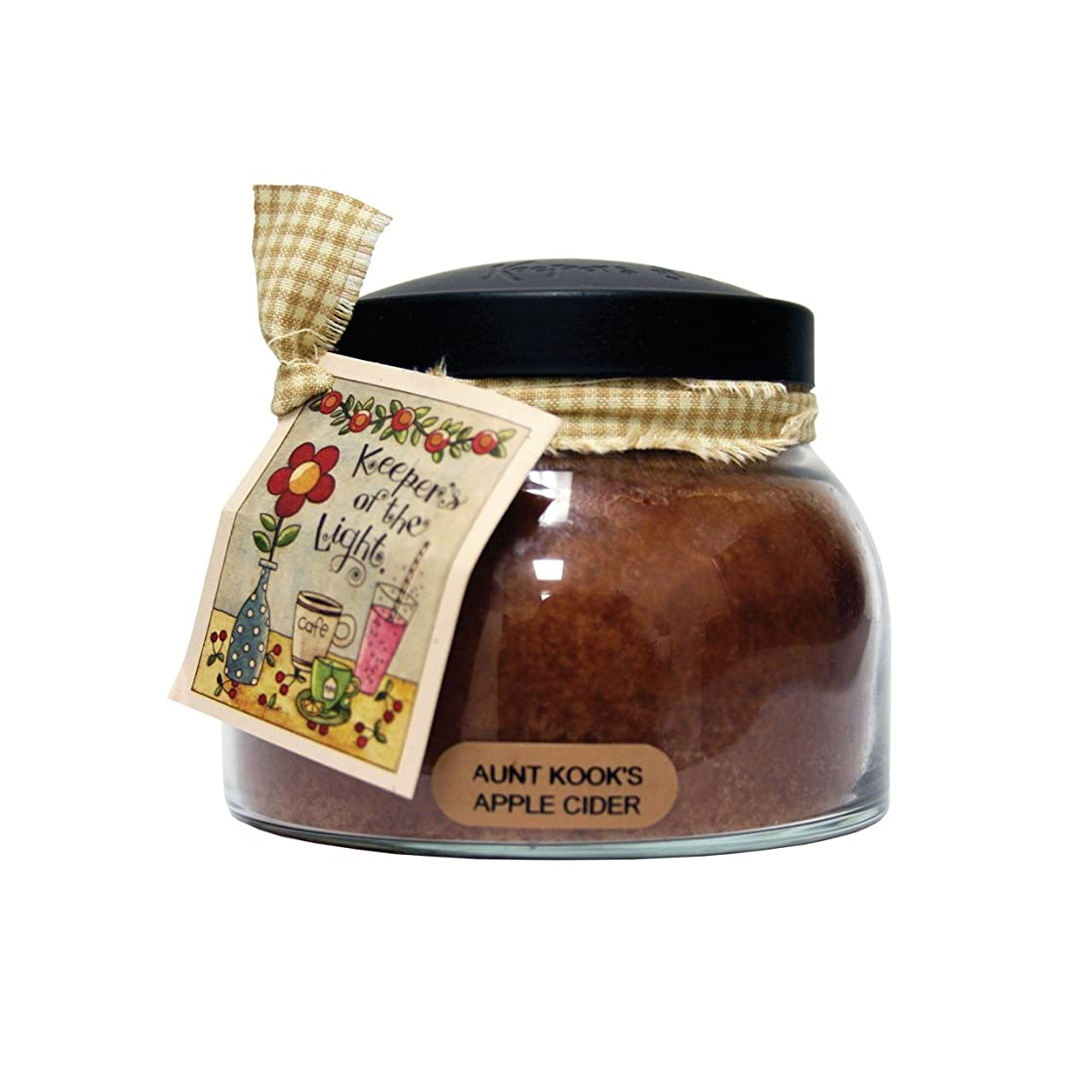 A Cheerful Giver Aunt Kook's Apple Cider Mama Jar Candle, 22-Ounce