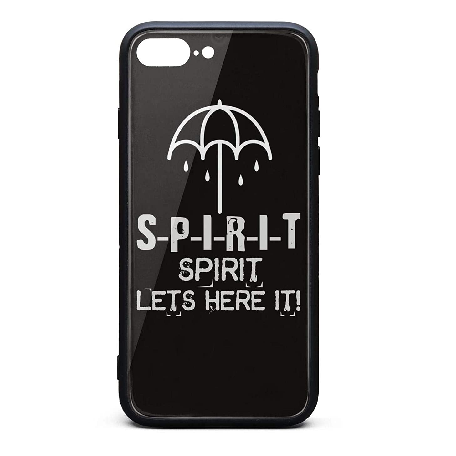 Spirit Umbrella Bring Me The Horizon Unique iPhone Cases Protective Cover for Apple iPhone 8 Plus Case Reinforced Corner TPU Bumper Cushion Scratch Resistant Hybrid Rigid Clear Back