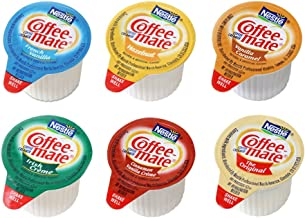 Coffee Mate Liquid Creamers, 6 Flavor Variety Pack, 180 Count (Original, French Vanilla, Irish Creme, Cinnamon Vanilla, Hazelnut, Vanilla Caramel)