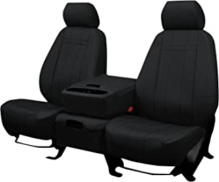Front Seats: ShearComfort Custom Waterproof Cordura Seat Covers for Ford F250 (2017-2019) in Black for 40/20/40 w/Folddown Opening Console and 3 Adjustable Headrests (Super Cab or Super Crew)