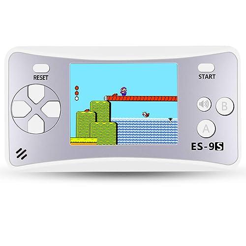 """ZHISHAN Rétro Consoles de Jeu Portable Handheld Game Consoles 2.5"""" LCD Big Écran Console de Jeux avec de 168 Classique Nostalgie Jeux Surprise Cadeau d'anniversaire pour Enfants (Argenté)"""