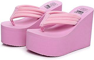 b1b5272e1785 QZUnique Women s High Heel Platform Wedge Flip-Flops Sandals Fashion Slipper  Summer Thong