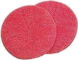 Sichler Haushaltsgeräte Zubehör zu Fussboden Poliermaschine: 2er-Set Ersatz-Reinigungs-Pads mit rauer Oberfläche für FPM-700 (Poliermaschine zur Bodenreinigung)