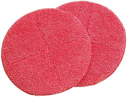 Sichler Haushaltsgeräte Zubehör zu Fussboden-Poliermaschine: 2er-Set Ersatz-Reinigungs-Pads mit rauer Oberfläche für FPM-700 (Poliermaschine Laminat)