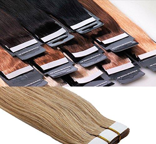 Tape In/On Extensions en cheveux naturels qualité : Virgin Remy – Haute Qualité 60 cm 10 Mèches marque frohlocke Salon Pro