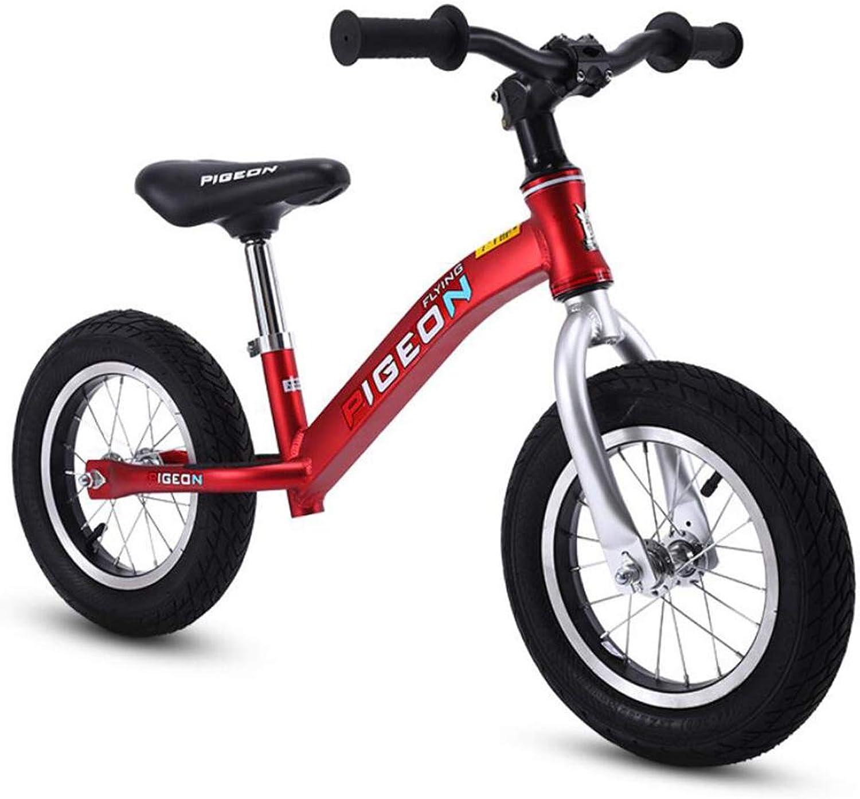 precio mas barato XIAOME Deporte Bicicleta Equilibrio Sin Pedal,Asiento Pedal,Asiento Pedal,Asiento Ajustable Neumáticos de Aire Los Niños equilibran Bicicletas Bicicleta de Entrenamiento Paseos al Aire Libre 2-6 años Edad-Rojo  mejor calidad mejor precio