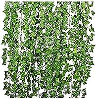 Mumoo Bear Artificial Ivy Leaf Plants Vine, 12 Strands 87 Feet Artificial Garlands Fake Foliage Flowers Hanging Vine for...