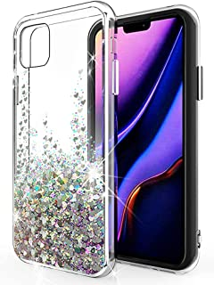 SunStory Designed for iPhone 11 Pro Max Case,Luxury Fashion with Moving Shiny Quicksand Glitter and Double Protection with PC Layer and TPU Bumper Case for iPhone 11 Pro Max 6.5 Phone (Silver)
