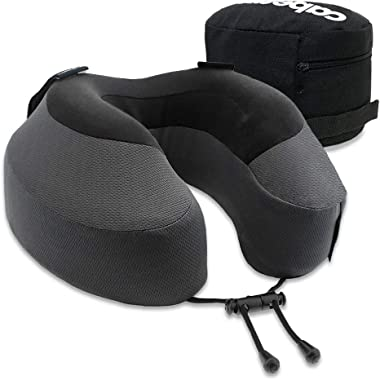 Cabeau Evolution S3 Travel Pillow, Memory Foam Airplane Neck Pillow for Travel, Home, Office, Neck Pain, Gaming, Breathable &