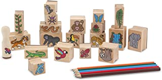 Melissa & Doug Stamp-a-Scene - Rain Forest | Arts & Crafts | Stamp Sets & Stencils | 4+ | Gift for Boy or Girl