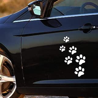 Adesivo zampa animale 3D Adesivo impronta divertente per camion argento auto