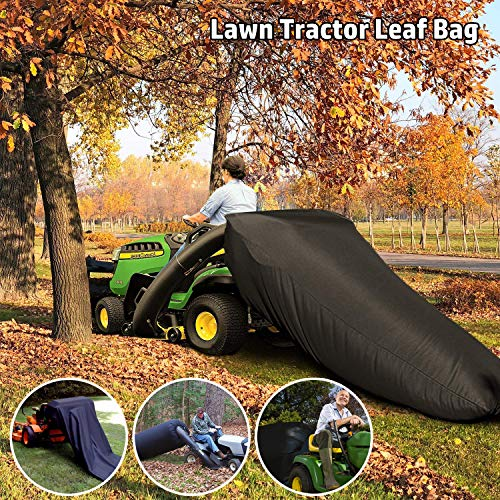 ORTIGIA Lawn Tractor Leaf Bag,Lawn Sweeper Tow Behind,Reusable Collecting Leaves Waste Bag,Mower Leaf Bag,Bag for Cub Cadet XT1 LT42, XT1 LT46, XT2 LX42, XT2 LX46 Lawn Tractors,Black
