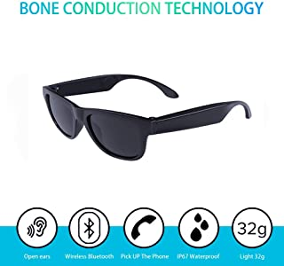 Waterproof Bone Conduction Bluetooth 4.0 Polarized Sunglasses Wireless Smart Headset Sport Black