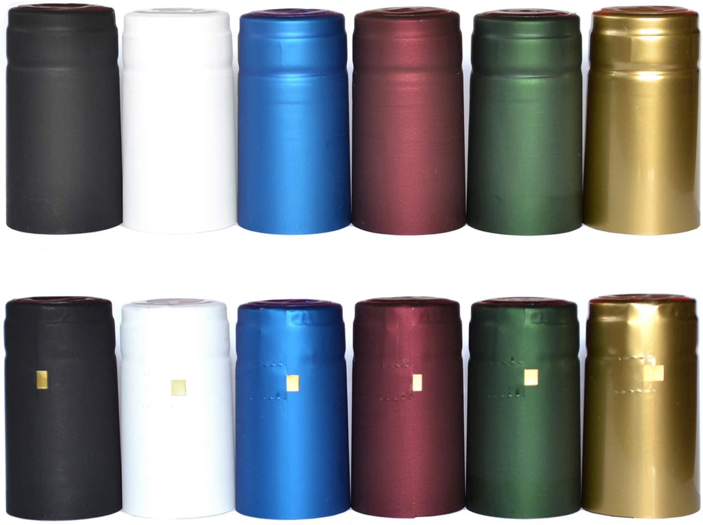 100x Wine Bottle Wraps Heat Shrink PVC Shrinking Sleeves Covers 30m Golden