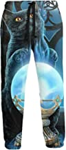 Summermf Witch Cat Dreamcatcher Witches Tonic Magic Crystal Ball Mens Sweatpants Joggers Pants Sports Trousers