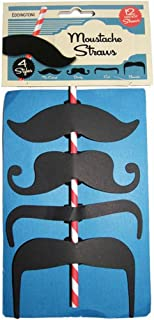 Kochen & Genießen Eddingtons Set Of Moustache Straws pack Of 6
