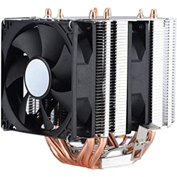 Bewinner 4pin 6 CPU Heatpipe Refroidisseur Dual Tour Refroidisseur d'air CPU Coller Fan 800 2200 Revolution Heatpipe Ventilateur CPU Silencieux pour