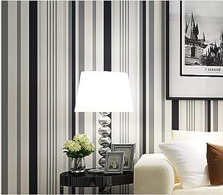 b015aed2d78 JXArt Papel Pintado de Pared Visión a rayas blanco y negro, 3D Moderno No-