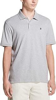 DKNY Men's Solid Short Sleeve Supima Cotton Polo Shirt