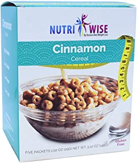 NutriWise - Cinnamon Cereal | Healthy Delicious Breakfast | 7/Box | High Protein, Low Carb, Low Calorie, Sugar Free, Glute...