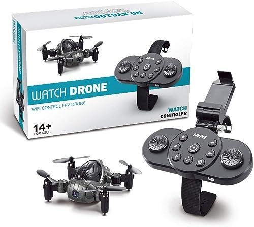 ERKEJI Drohne Watch Fernbedienung Mini faltbar Vier-Achs Flugzeug Spielzeug Flugzeug 720p Luftbild Echtzeitübertragung WiFi FPV Drohne