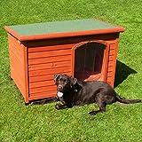 Caseta de madera para perros (tamaño grande)