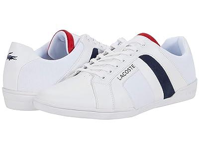 Lacoste Chaymon Club 0120 1 (White/Navy/Red) Men