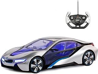 RASTAR BMW Toy Car, 1:14 BMW i8 Remote Control Car | BMW RC Car, Fully Transparent / Interior Light – Silver, 27MHz / 40MHz