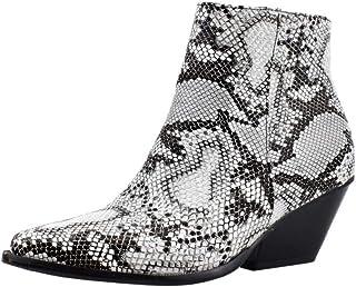 Melady Women Fashion Western Booties Block Heels