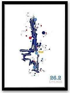 Run Ink Chicago 26.2 Course Marathon Map Poster