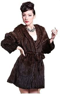 New Women 100% Real Silver Fox Fur Coat Jacket Winter