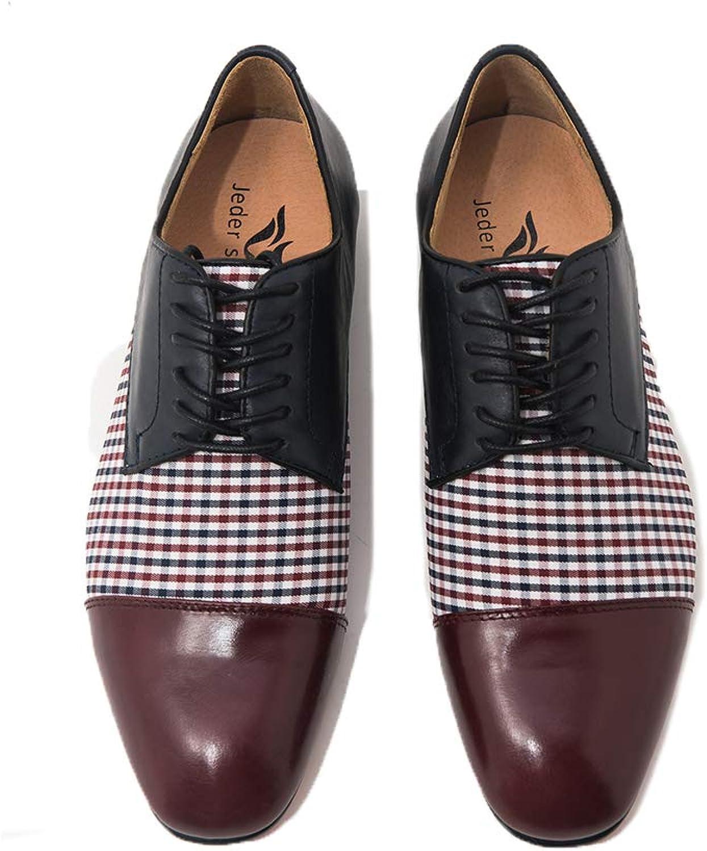 Jeder Schuh New Mens Dress Loafers Men shoes Quality Split Leather shoes Men Flats Oxford shoes Mens Dress