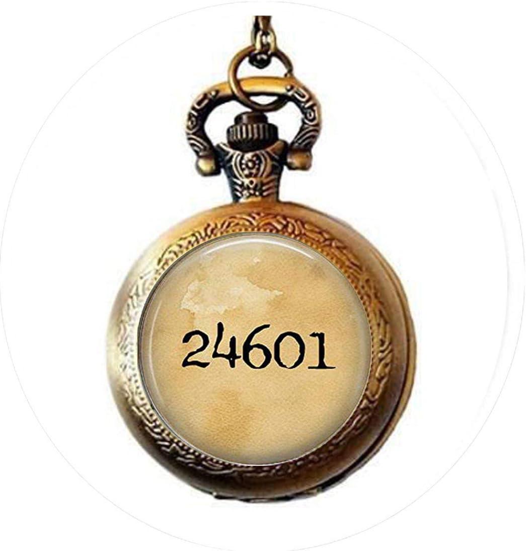 Les Miserables 24601 100% quality warranty Dance Recital Necklace Pocket Popular product Watch